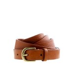 Italian Leather Skinny Belt