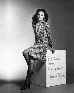 Diane von Furstenburg in her Wrap dress