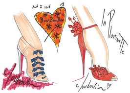 Sketches from Christian Louboutin's 20th Anniversary Collection